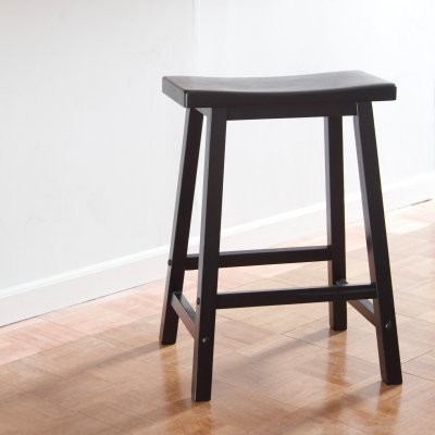 Winsome wood 24 inch rta single saddle seat counter stool for 24 inch bar stools