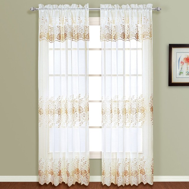curtain panel with attached valance modern curtains by hayneedle