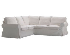 Ektorp Corner Sofa, Blekinge White traditional sectional sofas