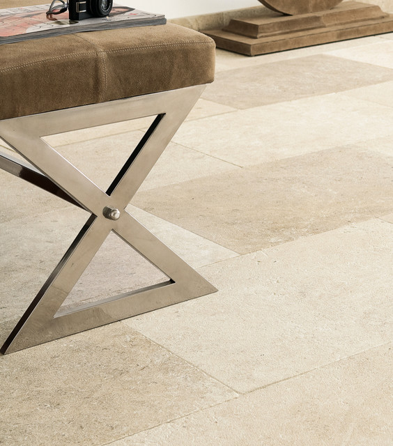 Limestone Floor and Wall Surfaces contemporary-floor-tiles