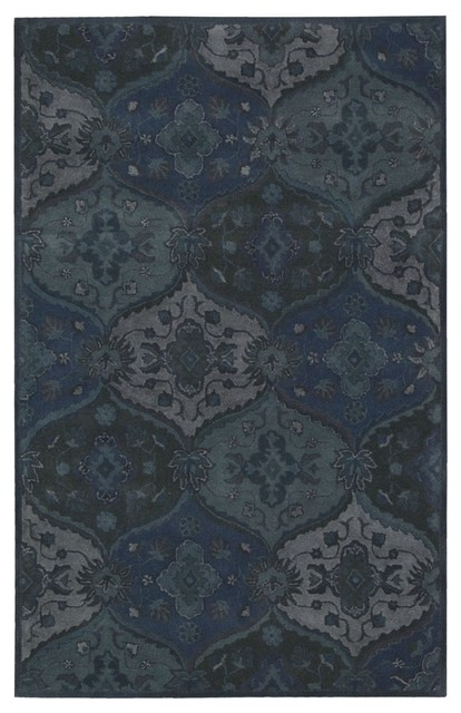 Nourison Hand-tufted India House Denim Rug (3'6 x 5'6) contemporary-rugs
