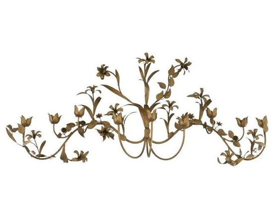 Brass Flower Candle Wall Hanging - $500 Est. Retail - $250 on Chairish.com -