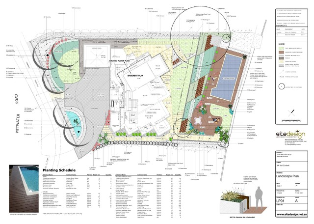 Water front design in bayview nsw modern site and for Modern site plan