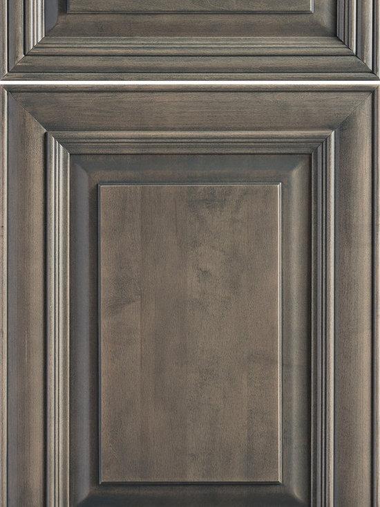 "Dura Supreme Cabinetry - Dura Supreme Cabinetry Venice Cabinet Door Style - Dura Supreme Cabinetry ""Venice"" cabinet door style in Cherry shown with Dura Supreme's ""Wild Cherry"" with ""Charcoal"" Glaze finish."