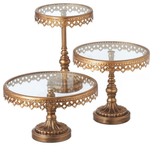 and Beaker Cake Stands Set of 3 traditional-dessert-and-cake-stands  sc 1 st  for cupcakes. & Cake Plate Stand. VILAVITA 3-Set Antique Cake Stand Round Cupcake ...
