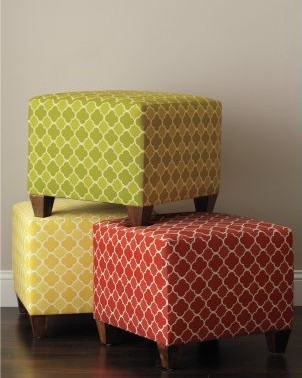 Beaton Cube Ottoman - Garnet Hill eclectic-ottomans-and-cubes