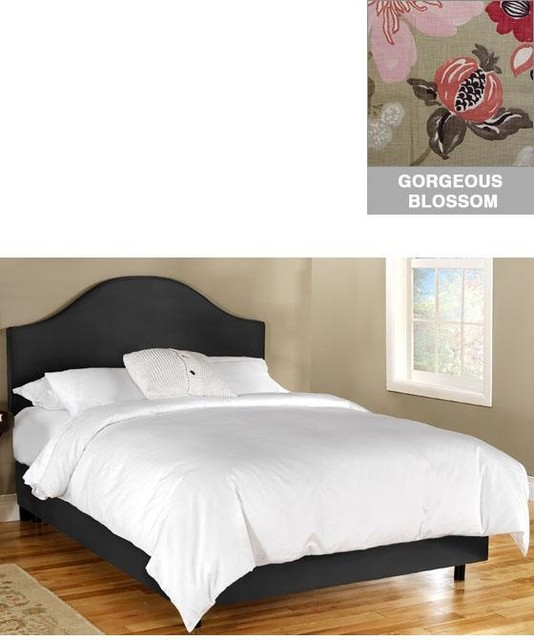 Custom Draper Upholstered Bed traditional-beds