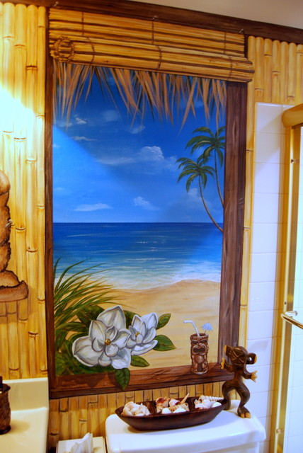 Hawaiian Beach Themed Mural by Tom Taylor of Wow Effects ...