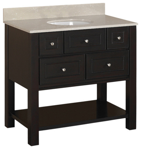 Brown Espresso Hagen Bath Vanity With Top - contemporary