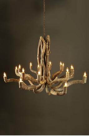 Driftwood Chandelier eclectic-chandeliers