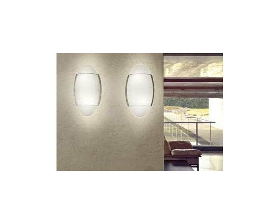 Roy Wall Lamp \ Sconce By Leucos Lighting - Roy from Leucos is a large-scale, wall or ceiling design providing diffused illumination from its incandescent or fluorescent light source.