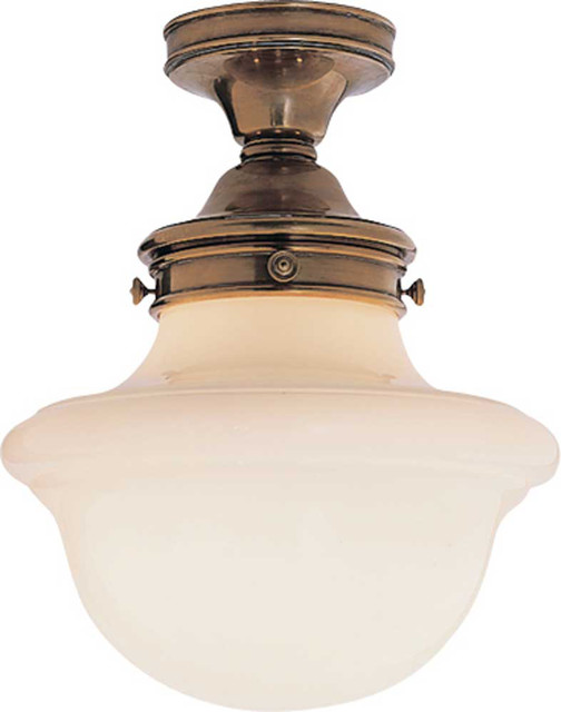 Short school house flush mount traditional flush mount ceiling lighting other metro by - Schoolhouse lights kitchen ...