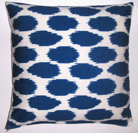 Cheeky ikat printed organic cotton pilow cover eclectic