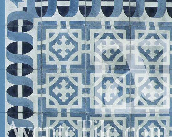 "Traditional Santo Domingo Cement Tile 10"" x 10"" -"