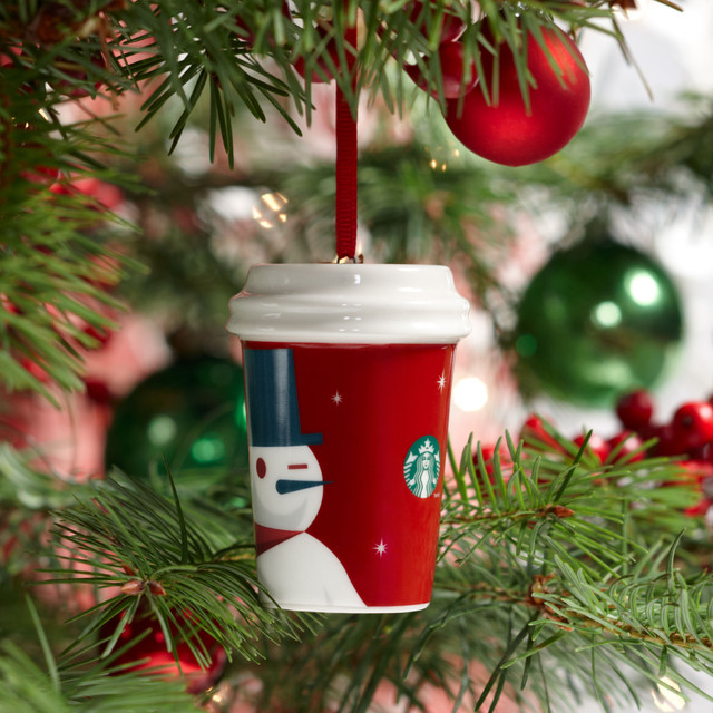 Eclectic Christmas Ornaments by Starbucks