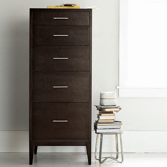 narrow leg 5 drawer dresser modern by west elm