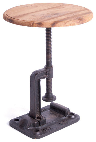 Factory Clamp Side Table industrial-side-tables-and-accent-tables