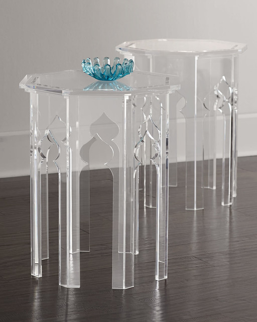 Bernhardt Aiden Acrylic Side Table Side Tables And End