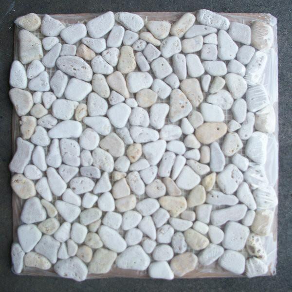 Rocks Pebble Stone Mosaic Tile Tumbled Traditional Wall And Floor Tile