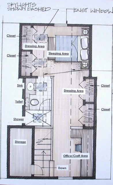 Attic Design For A 1930 Bungalow Craftsman Floor Plan