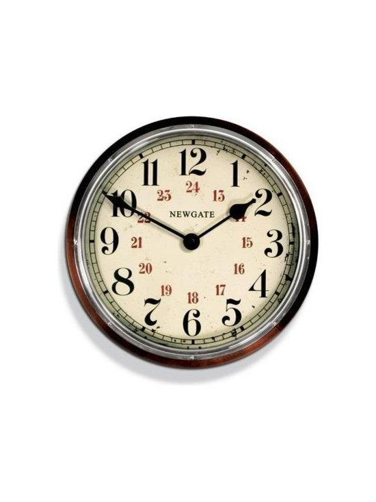 Ticket Office Clock In Dark Oak -