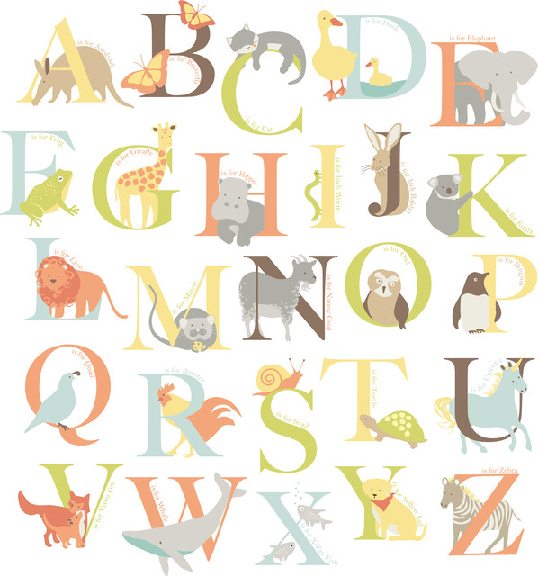 Alphabet Zoo Wall Art Decal Kit - Contemporary - Wall Letters - by ...