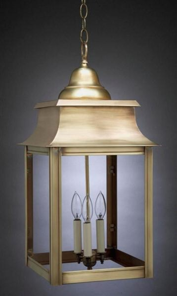 Northeast Lantern Pagoda Hanging Antique Brass Concord