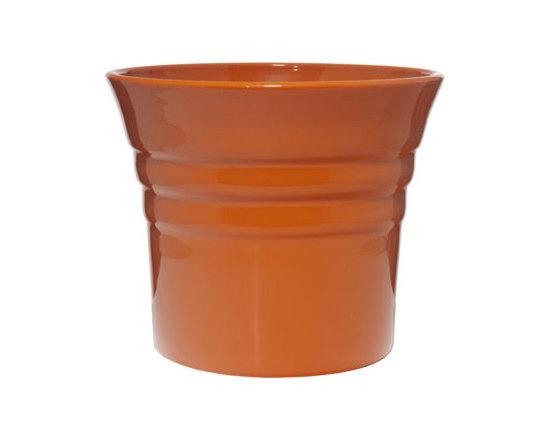 Large Flared Ceramic Cachepots -