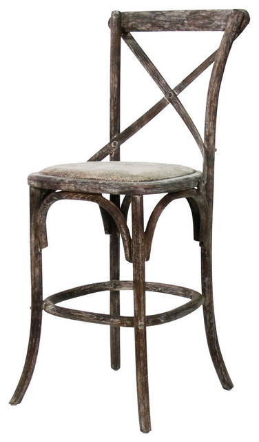 Parisienne Cafe Counter Stool Limed Charcoal Farmhouse Bar Stools And Co
