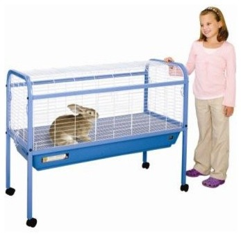 Jumbo Small Animal Cage on Stand with Casters - 47x22x37 modern-small-pet-supplies