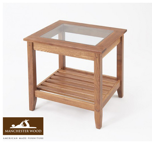 Glass Top End Table by Manchester Wood side-tables-and-end-tables