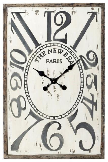 Timms Wall Clock Rectangular Rustic Wall Clocks By
