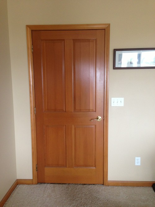 Restaining wood doors and trim throughout home for Wood trim around doors