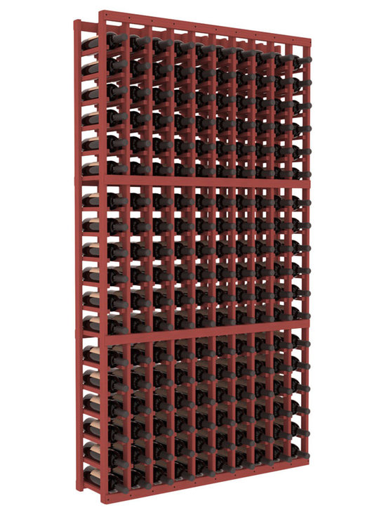 Wine Racks America - 10 Column Standard Wine Cellar Kit in Pine, Cherry - This rack is vital to any serious wine collector. Rock solid assembly of high grade pine or redwood is guaranteed to last. Designed for expandability, stability and rigidity; we don't top-load an extra bottle to meet our specs.
