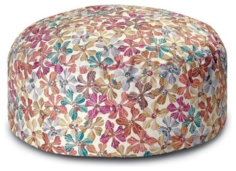 Missoni Home | Meketewa Neutral Pouf modern-footstools-and-ottomans