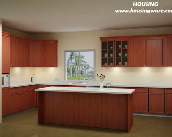 kitchen cabinet 020 - design free, customized, top quality, with bench top and top stainless steel sink
