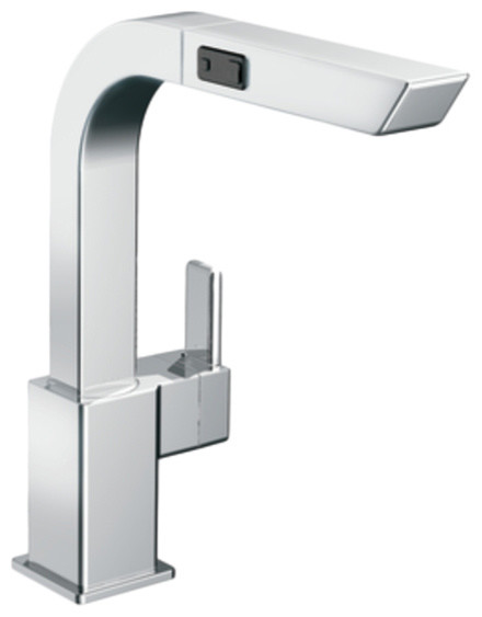 Moen CA7597C 90 Degree Series Pull-Out Kitchen Faucet (Chrome) modern-kitchen-faucets