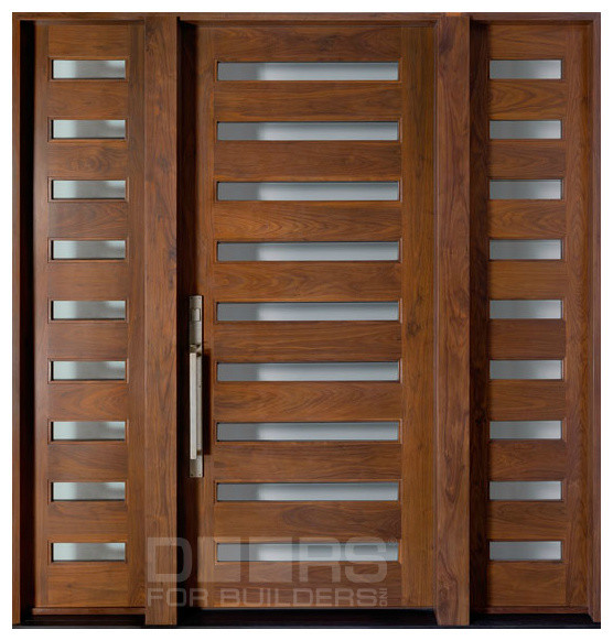 Modern collection custom solid wood doors contemporary for Solid hardwood front doors