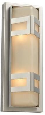 """Sasha 16 1/4"""" High Silver Outdoor Wall Light contemporary-outdoor-lighting"""