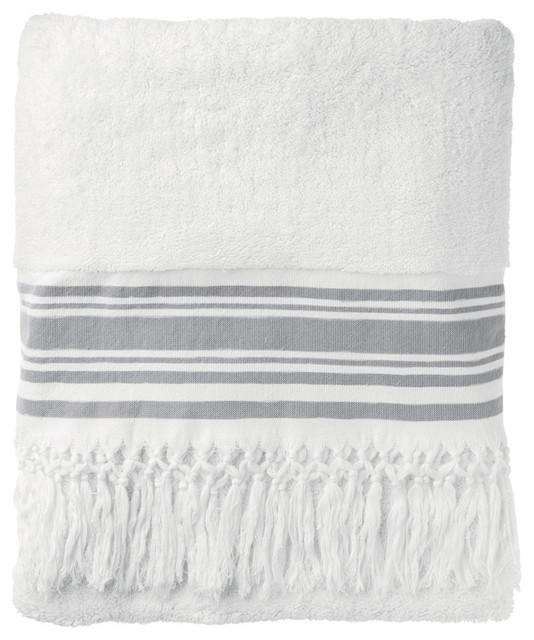 Anatolian Striped Bath Towel traditional-bath-towels