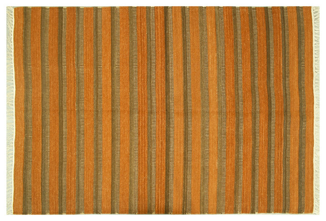 Oriental Rug Durie Kilim Flat Weave Brown Hand Woven Sh6360 transitional-rugs