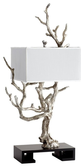 Silver Tree Sculpture Table Lamp - Lamp Shades - by Shades of Light