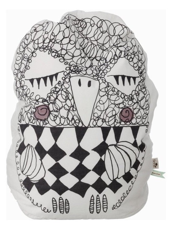 Ferm Living Olivia Bean Bag - This playful children's pillow is made of 100 percent organic cotton and will look adorable in any room of your home.