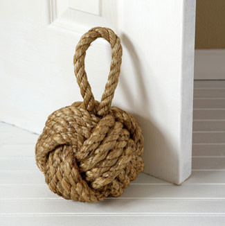 Nautical Knot Door Stopper eclectic accessories and decor