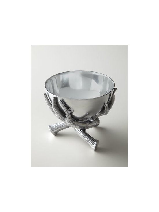 "Arthur Court - Arthur Court Antler Nut Bowl - Add rustic beauty to dining or serving with this small nut bowl comprising a faux antler base and smooth, sleek basin. Handcrafted of satin-finish aluminum. Hand wash. 5.5""Dia x 4.75""T. Imported."