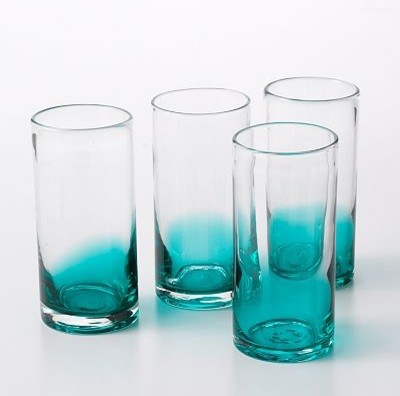 Bobby Flay Ombre Highball Glass Set Teal Contemporary Cocktail Glasses By Kohl S