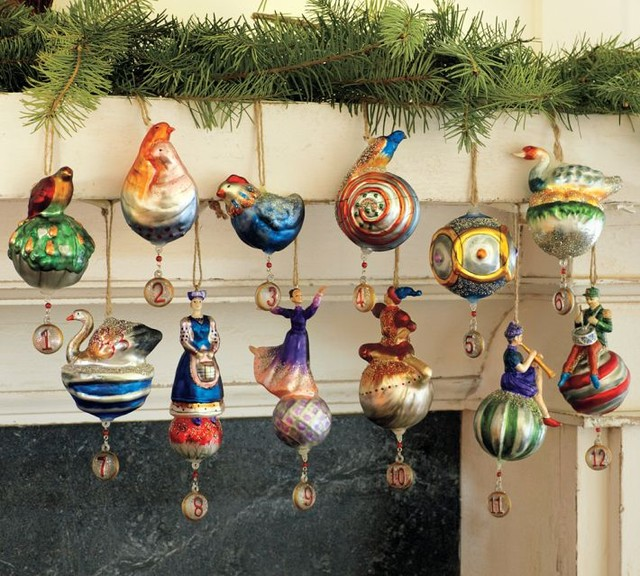 Twelve Days Of Christmas Ornaments, Set Of 12