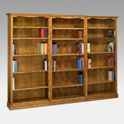 A & E Americana Wall System Wood Bookcase traditional-storage-units-and-cabinets