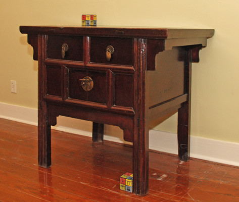Antique small Chinese table with two doors, two drawers - Asian - Side ...