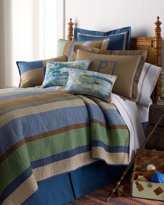 Arles Bed Linens Fish Camp Pillow, 13 x 18 traditional-decorative-pillows